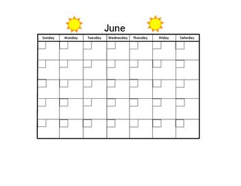 June Blank Calendar
