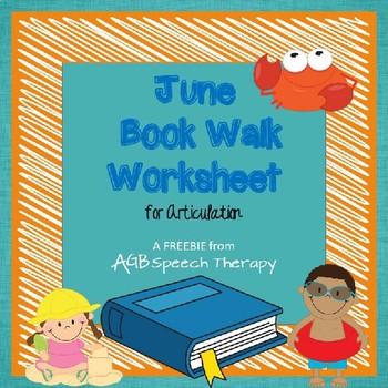 June Book Walk Worksheet