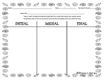 June Book Walk Worksheet