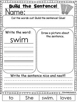 June Build the Sentence