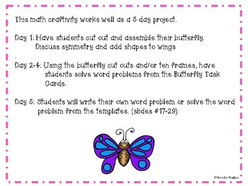 June Butterfly Math Craftivity