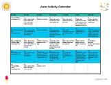 June Calendar Activities for Speech and Language