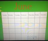 June  Calendar & Attendance