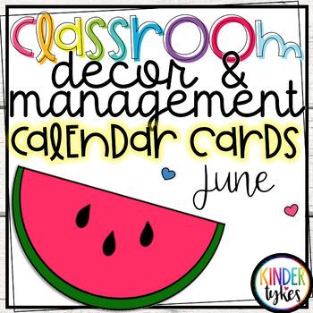 June Calendar Cards by Kinder Tykes