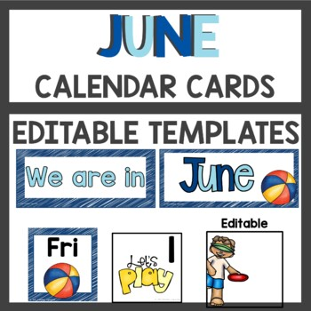 Pattern Calendar Cards for June