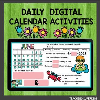 June Calendar Journal Activities