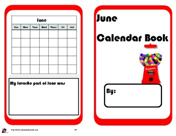 June Calendar Math Booklet - FREE