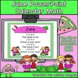 June Calendar Math - in PowerPoint - use with or without i