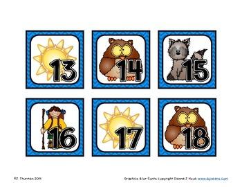 June Calendar Numbers ABCD Pattern
