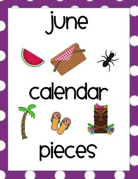 June Calendar Pieces
