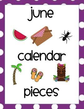 June Calendar Pieces