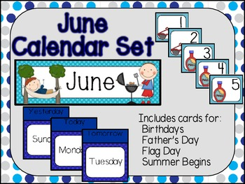 June Calendar Set-Polka Dots