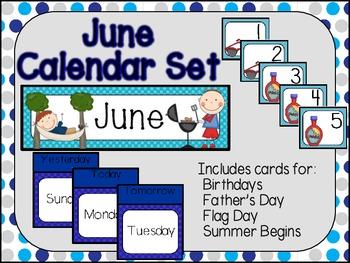 June Calendar Set-Polka Dots