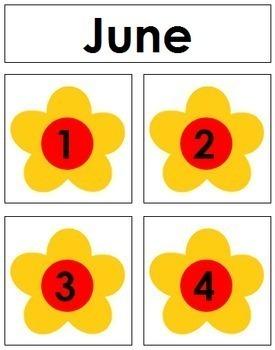 June Calendar Tags