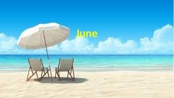 June Calendar Words