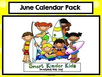 2018 June & July Calendar and Math Pack for Smartboard!