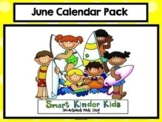 2020 June & July Calendar and Math Pack for Smartboard!