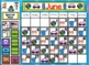 2017 June & July Calendar and Math Pack for Smartboard!