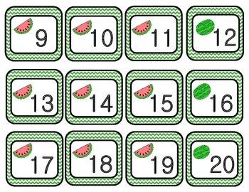 June Chevron Calendar Set