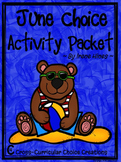 June Choice Activity Packet: Summer No Prep Cross-Curricular Anchor Activities