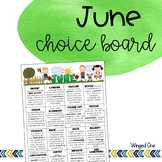 June Early Finishers: Choice Board
