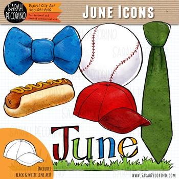 June Clip Art {First Edition}