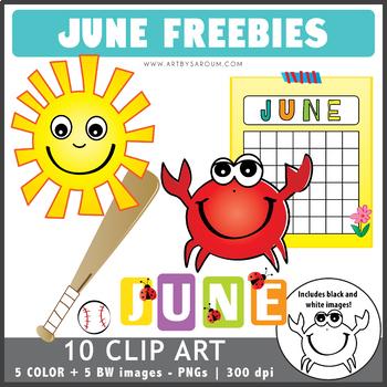 June Clip Art Freebies