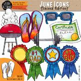 June Clip Art {Second Edition}