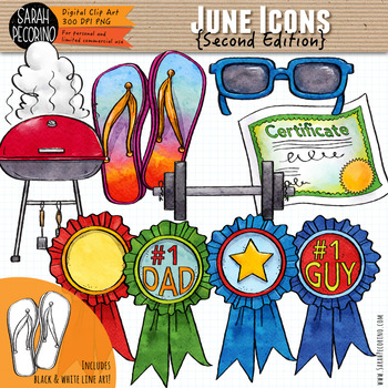 June Clip Art {Second Edition}