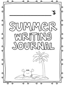 June Color & Write (Summer Writing Prompts Journal for K-2)
