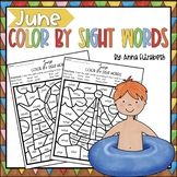 June Color by Sightwords