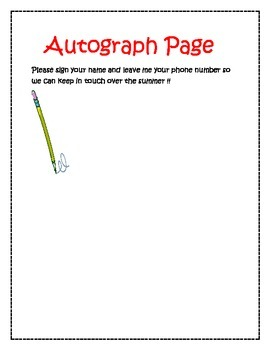 June Creative Writing Packet