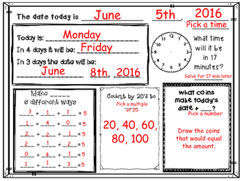 June Daily Calendar Activity Journal