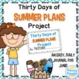June Daily Journal: 30 Days of Summer Plans: Print, Cut, Go!