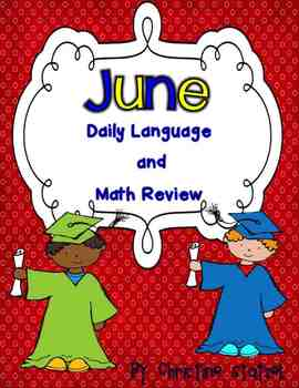 June Daily Language and Math Practice