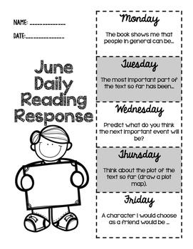 June Daily Reading Response