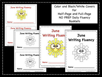 June Daily Writing Fluency Prompts - 30 Sentence Starters