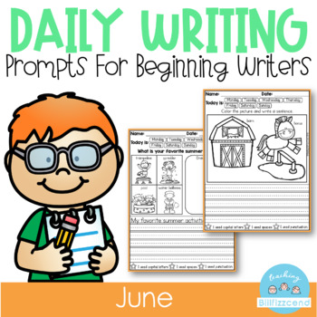 June Daily Writing Prompts (Summer Writing Activities)