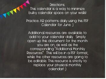 June Digital Calendar