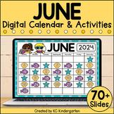 June Digital Calendar   Distance Learning