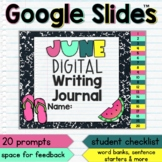 June Digital Writing Journal for Google Slides with Intera