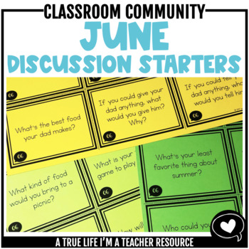 June Discussion Starters