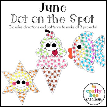 June Dot on the Spot Set {Sun, Ice Cream Cone, & Fish}