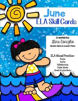 June ELA Skill Cards
