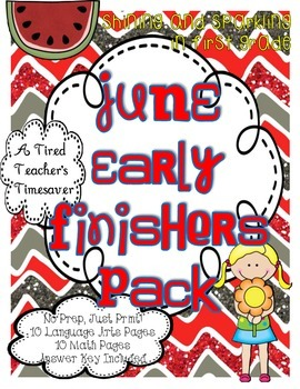 June Early Finishers Pack
