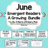 June Emergent Readers and Response Activities Growing Bundle