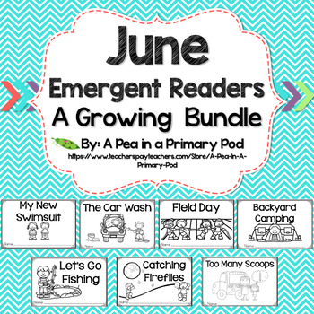 June Emergent Readers and Response Activities Growing Bundle