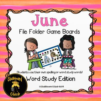 June File Folder Games Word Study Edition