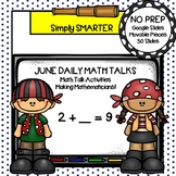 June First Grade Digital Daily Math Talks For GOOGLE SLIDES