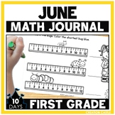 First Grade Math Journal for June